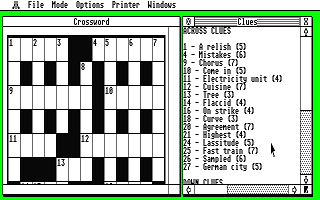 Crossword Editor ST atari screenshot